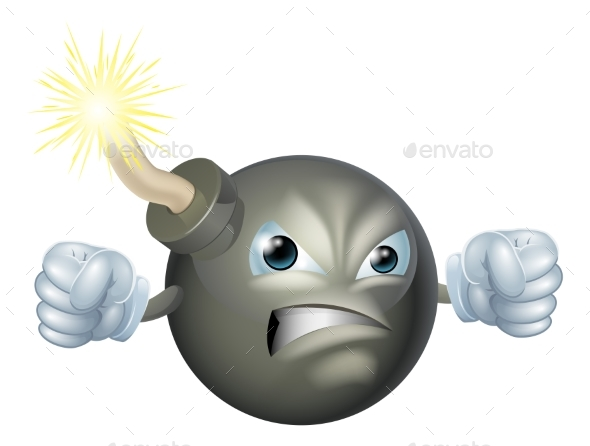 Angry Cartoon Bomb - Miscellaneous Vectors
