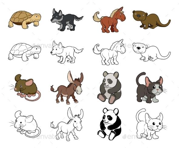 Cartoon Animal Illustrations - Animals Characters
