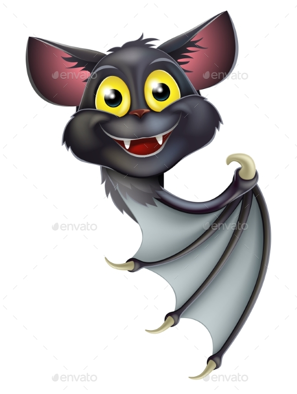 Halloween Bat Pointing - Animals Characters