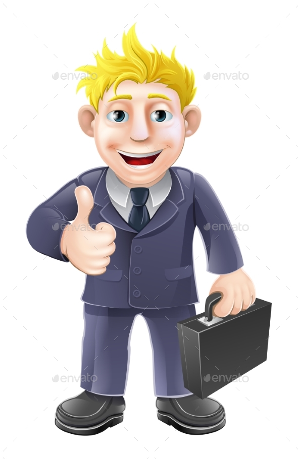 Thumbs Up Businessman - People Characters