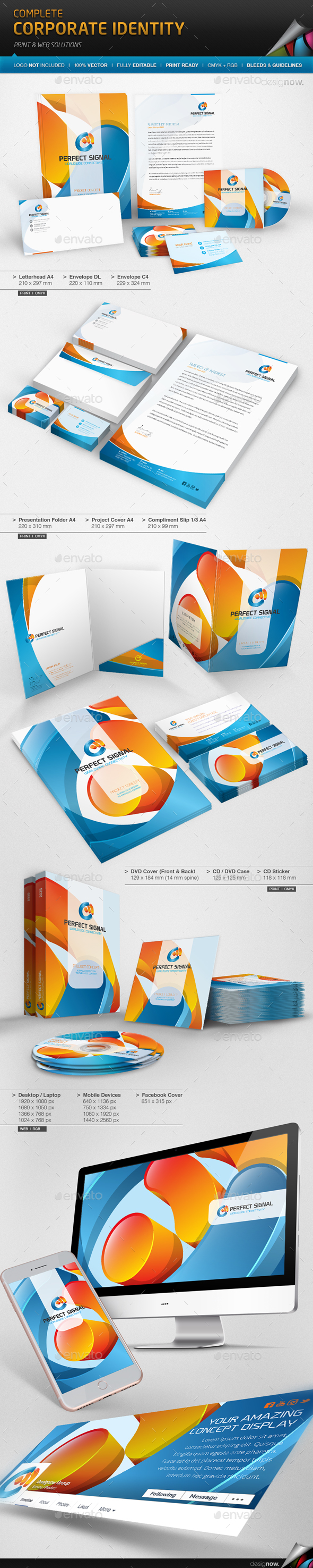 Corporate Identity - Perfect Signal - Stationery Print Templates