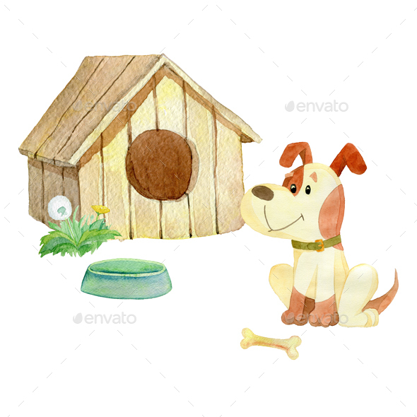 House for Dogs - Animals Illustrations