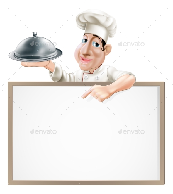 Chef Cloche and Menu - Miscellaneous Vectors
