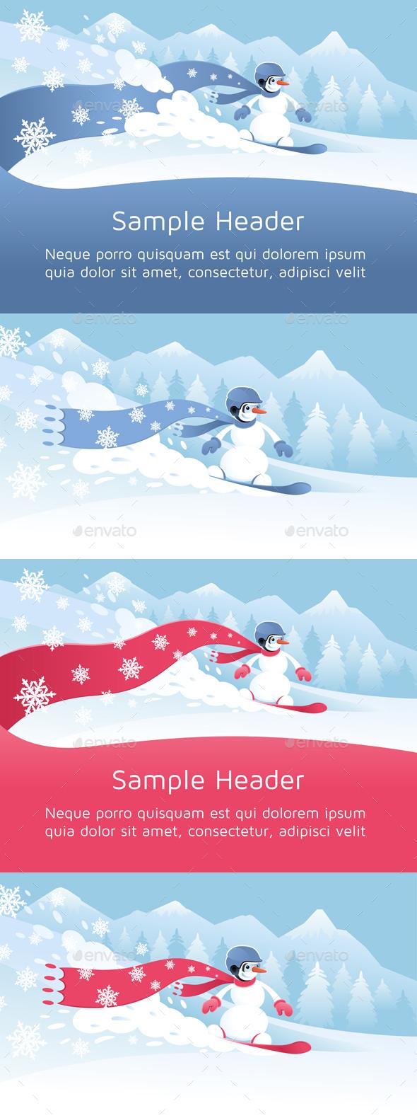 Festive Snowboarding - Sports/Activity Conceptual