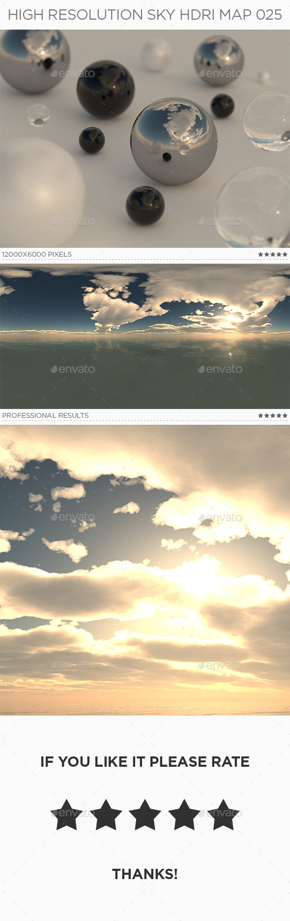 High Resolution Sky HDRi Map 025 - 3DOcean Item for Sale
