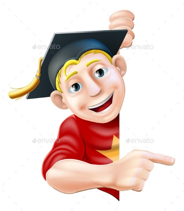 Graduate Pointing - People Characters