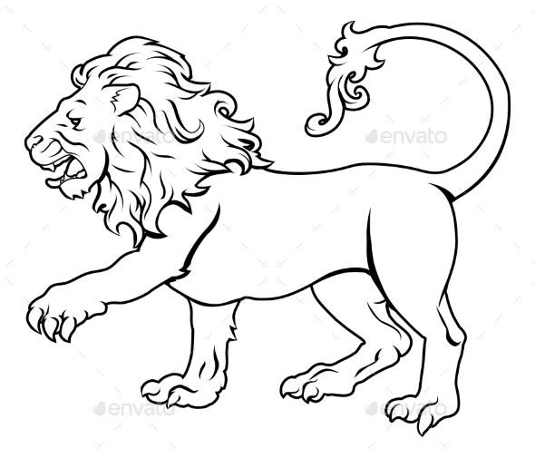 Stylised Lion Illustration - Miscellaneous Vectors
