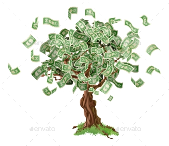 Money Savings Tree - Concepts Business