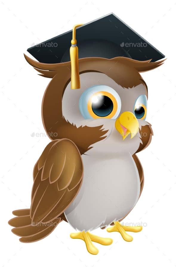 Graduate Owl - Miscellaneous Vectors