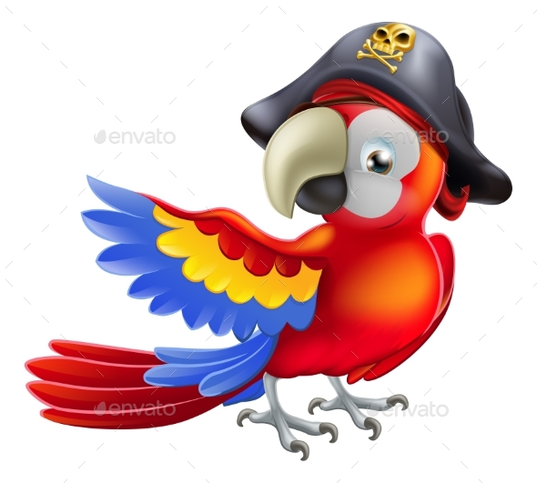 Pirate Parrot - Animals Characters