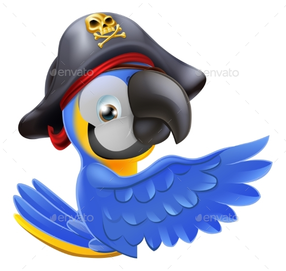 Pointing Pirate Parrot - Animals Characters