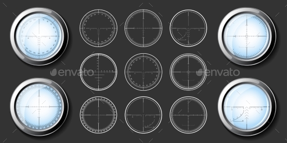 Sniper  Crosshairs Set - Miscellaneous Vectors