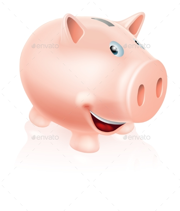 Cartoon Piggy Bank - Animals Characters