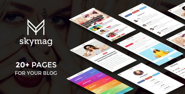 Skymag - News & Magazine Mobile Template