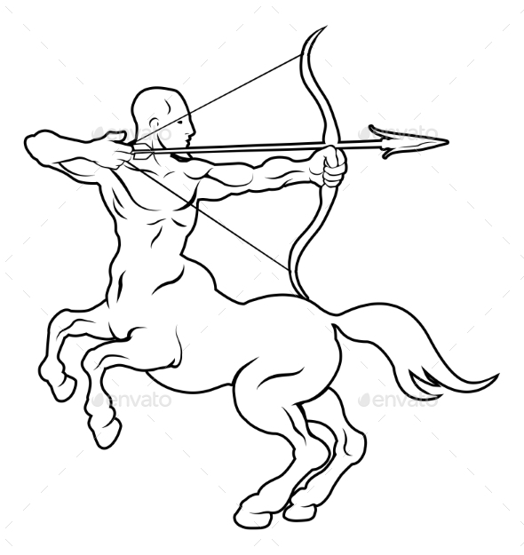 Stylised Centaur Archer Illustration - Miscellaneous Vectors