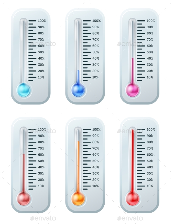 Thermometer Series Set - Miscellaneous Vectors
