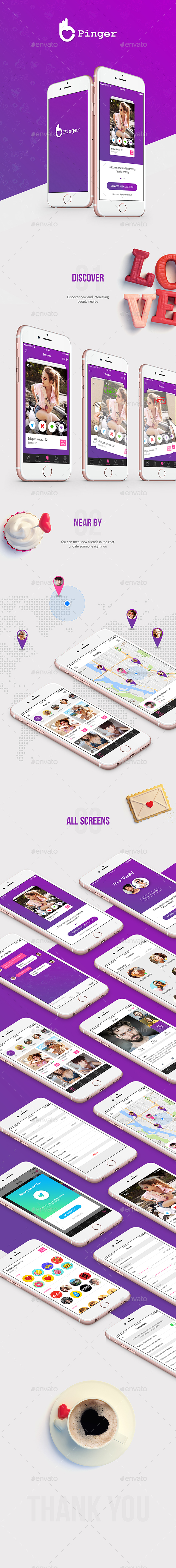 Dating App UI Kit - User Interfaces Web Elements