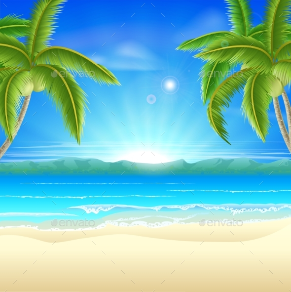 Beach Summer Holiday Background - Landscapes Nature