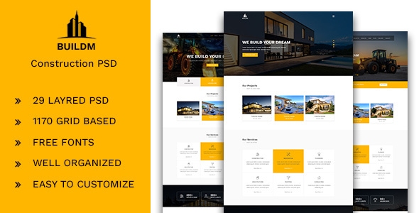 Buildm - Construction PSD Template