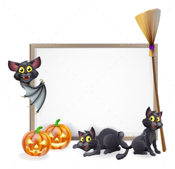 Halloween Sign Background - Miscellaneous Vectors