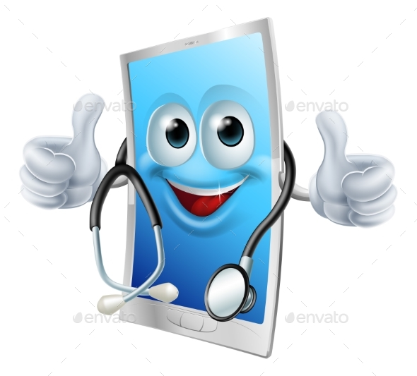 Doctor Phone with Stethoscope - Health/Medicine Conceptual