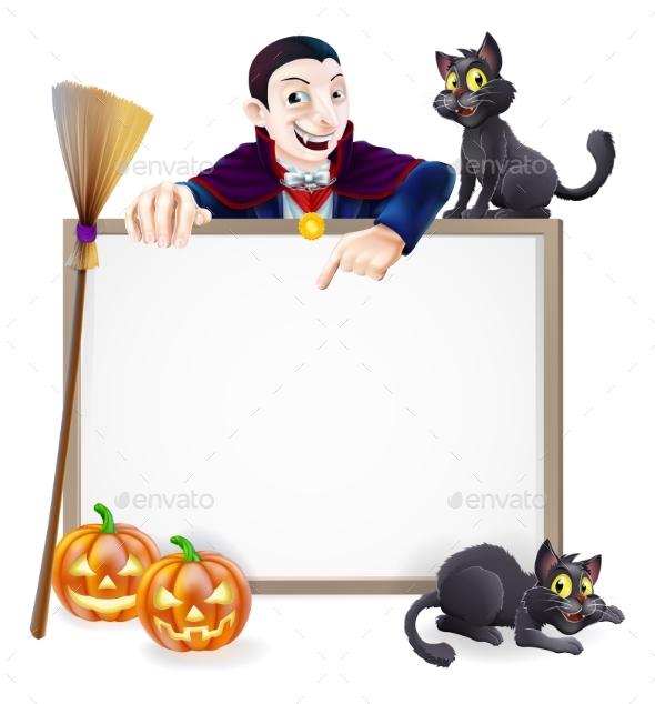 Dracula Halloween Sign - Miscellaneous Vectors