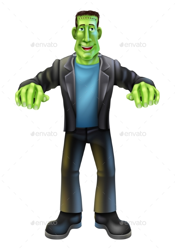 Halloween Cartoon Frankenstein - People Characters