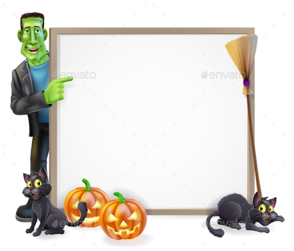 Halloween Frankenstein Sign - Miscellaneous Vectors