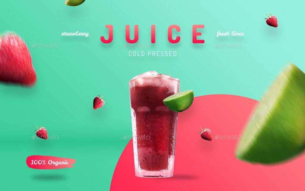 Organic Juice - 10 Premium Hero Image Templates by ...
