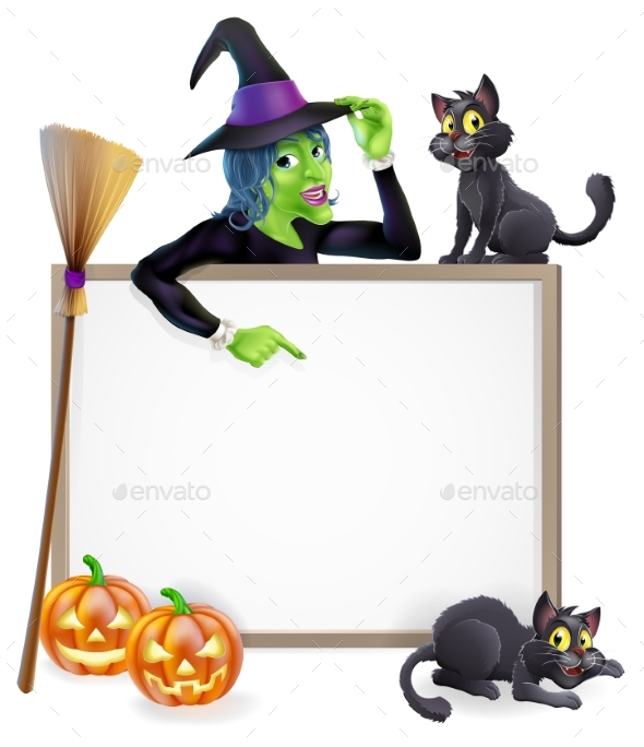 Witch Halloween Sign - Miscellaneous Vectors