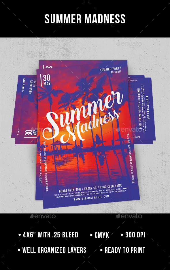 Summer Madness - Flyer - Clubs & Parties Events