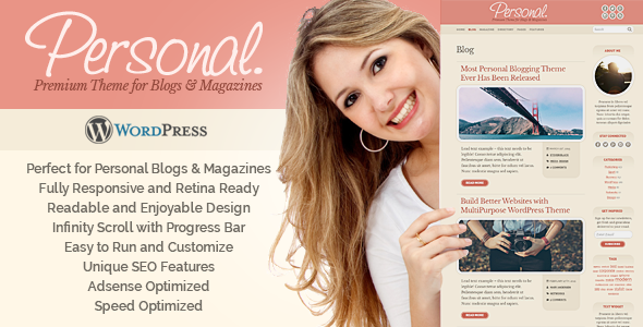 Personal WordPress Theme - Personal Blog / Magazine