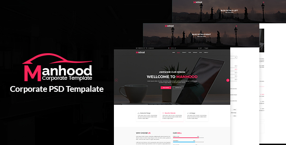 Manhood- Corporate PSD Template