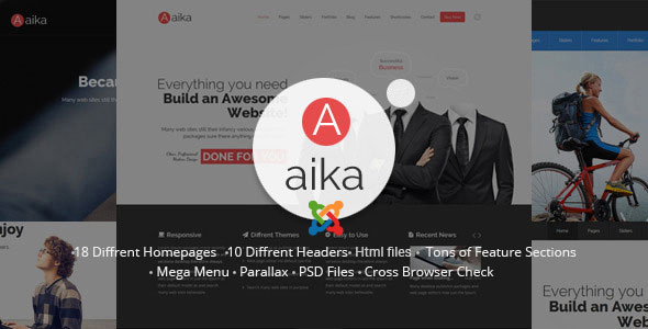 Aaika - Responsive Multipurpose Joomla Template - Business Corporate