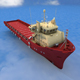 Supply Vessel - 3DOcean Item for Sale