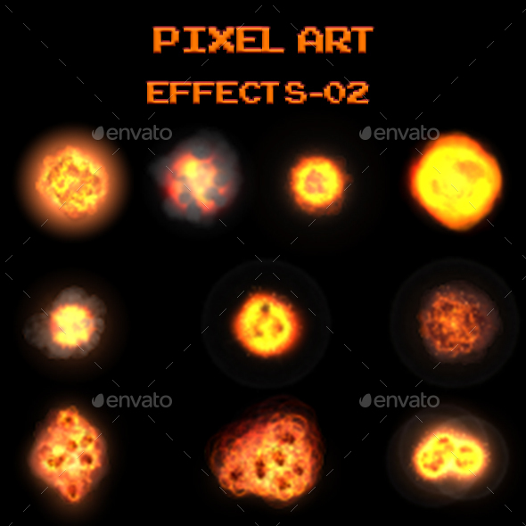 Pixel Art Effects 02 - Sprites Game Assets