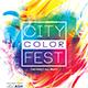 City Color Fest Party Flyer - GraphicRiver Item for Sale