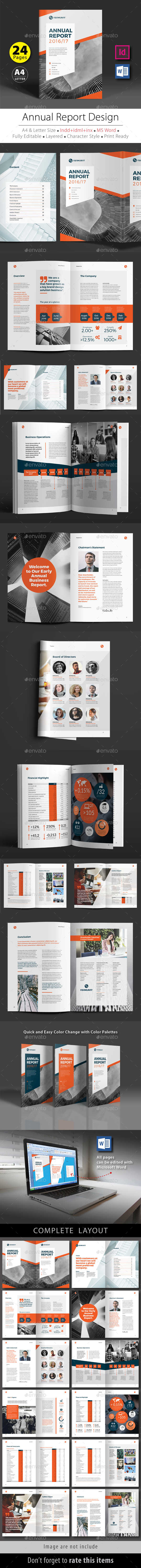 Annual Report Design Template V.5 - Corporate Brochures