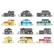 Vector Flat Icon Suburban American House. - GraphicRiver Item for Sale