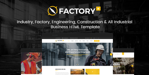 Factory Plus - Industry / Factory / Engineering and Construction Business HTML Template