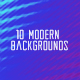 10 Modern Backgrounds Pack
