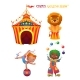 Circus Cartoon Characters. - GraphicRiver Item for Sale