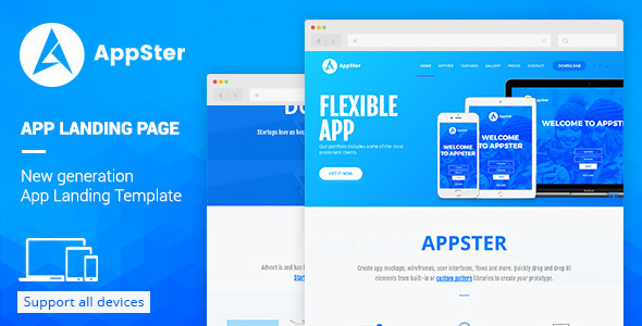 Appster – Landing Page Template Muse Template