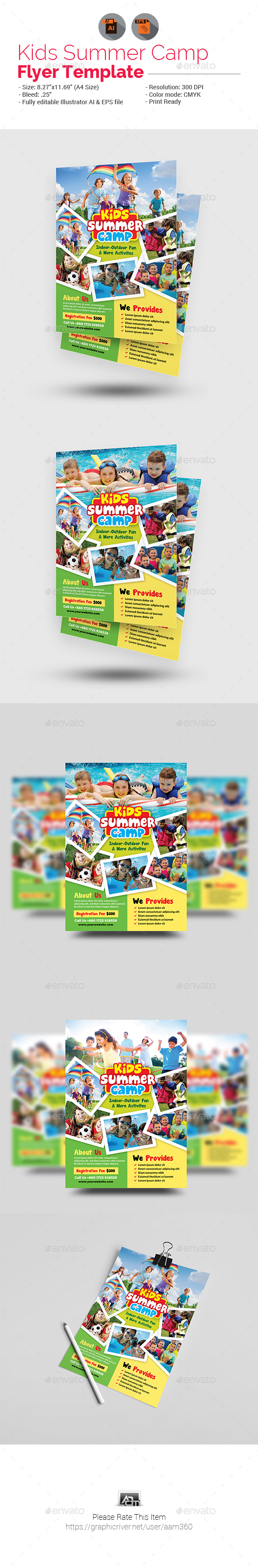 Kids Summer Camp Flyer - Flyers Print Templates