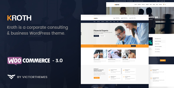 Kroth - Business/Consulting WordPress Theme