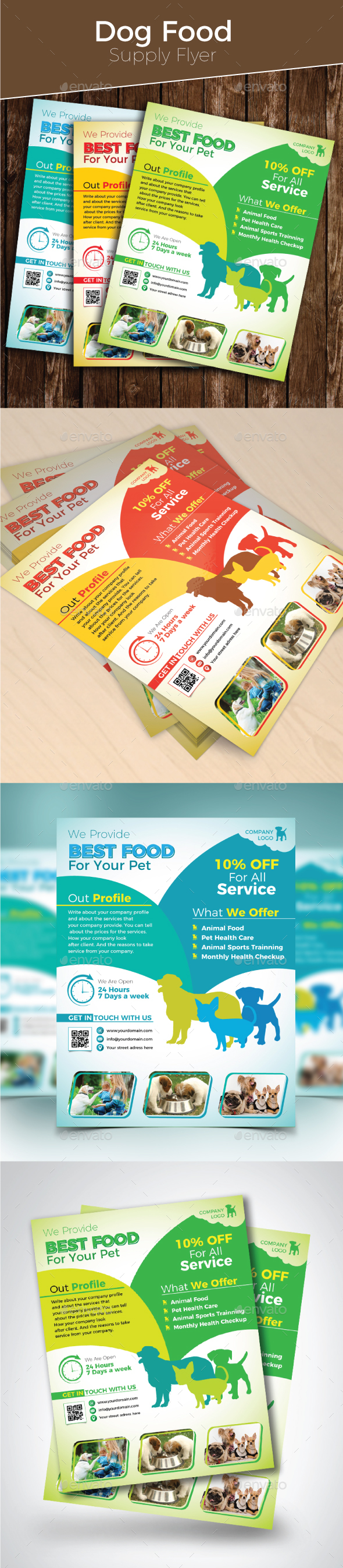 Dog Food Supply Flyer - Events Flyers