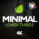 Minimal Lower Thirds For Final Cut Pro X - VideoHive Item for Sale