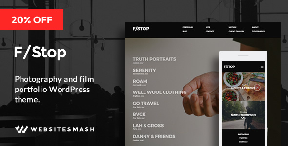 FStop – Photography & Videography Portfolio WordPress Theme