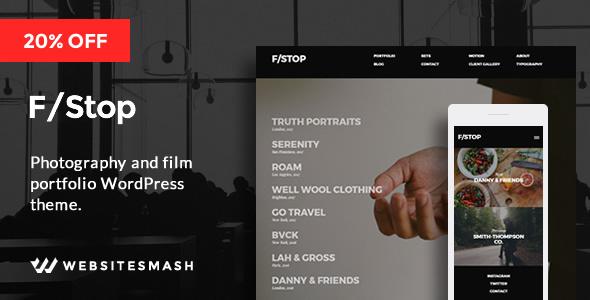 FStop – Photography & Videography Portfolio WordPress Theme