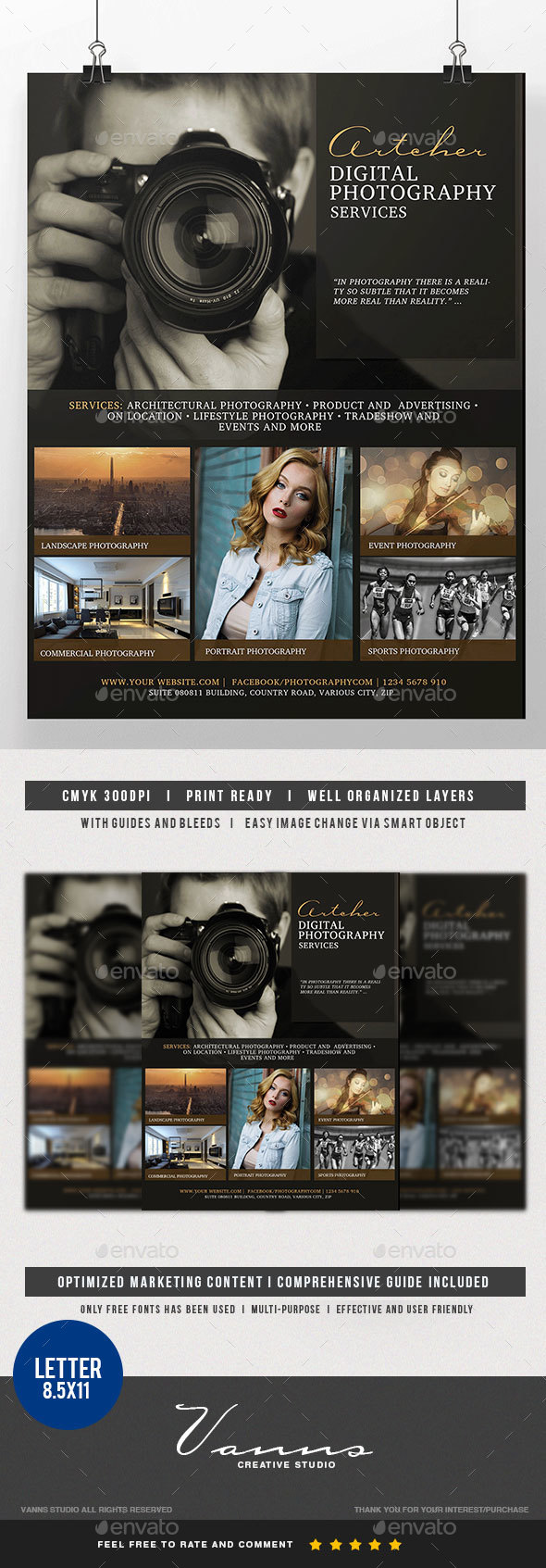 Photography Services Flyer Vol. 2 - Commerce Flyers